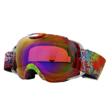 Skiing Goggles UV400 Double Layers Lenses Anti-fog Anti-Scratch Wear Over Rx Glasses, Snowboard Sunglasses for Men Women