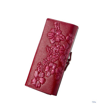 Floral Embossed Long Wallet Bags and Wallets Best Seller Hot Promotions Women's Wallets Color: 752a