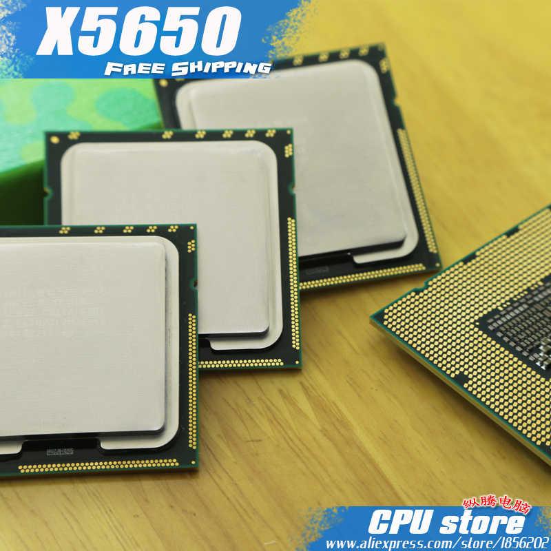 Processador intel, xeon x5650 cpu processador/2.66ghz/lga1366/12mb l3 cache/seis núcleos/servidor peça sem risco de frete grátis da cpu