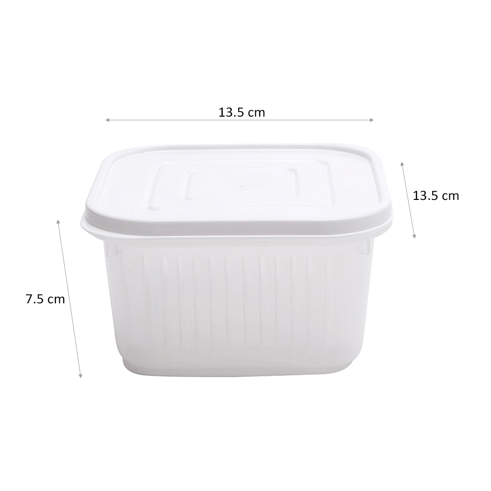 Portable Square Crisper Household Food Container Kitchen Draining Sealed Box For Green Onion Ginger Garlic Kitchen Storage in Bottles Jars Boxes from Home Garden
