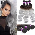 TOP Ombre Brazilian Hair Body Wave 8A Unprocessed Brazilian Human Hair Weave Bundles Omber 3 Bundles Lot Ombre Hair Extensions
