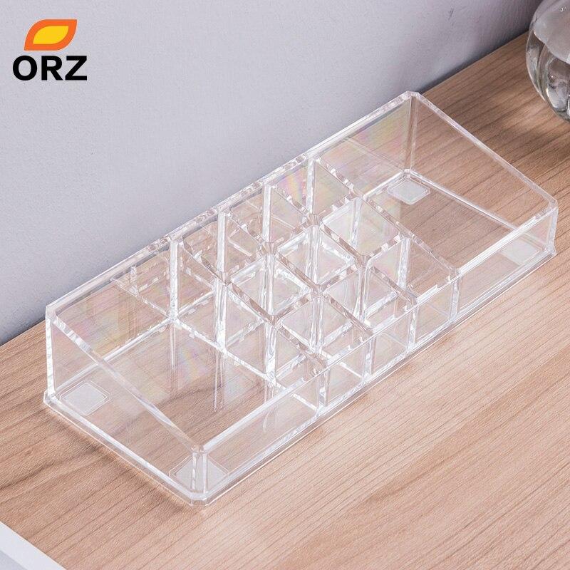 ORZ Lipstick Holder Display Stand Cosmetics Makeup Organizer Storage Box For Jewelry Container Organizer Desktop Storage Basket