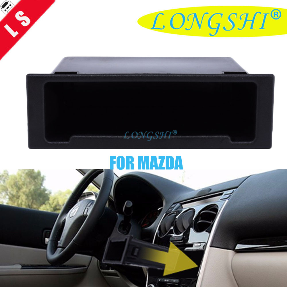 Single Din Pocket for <font><b>Mazda</b></font> Car Vehicle Fascia <font><b>Radio</b></font> <font><b>Dash</b></font> Mount <font><b>kit</b></font> Hook Storage Box 1DIN image