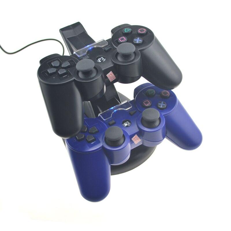 Dual Charger per PS3 Dock di ricarica Stand + cavo USB per console - Giochi e accessori - Fotografia 3