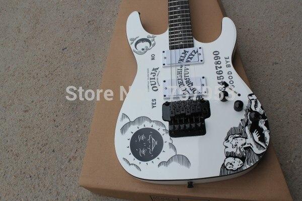 Factory custom shop 2017 Newest Custom white E S P KH-2 Kirk Hammett Ouija white electric guitar Free shipping (hai 4