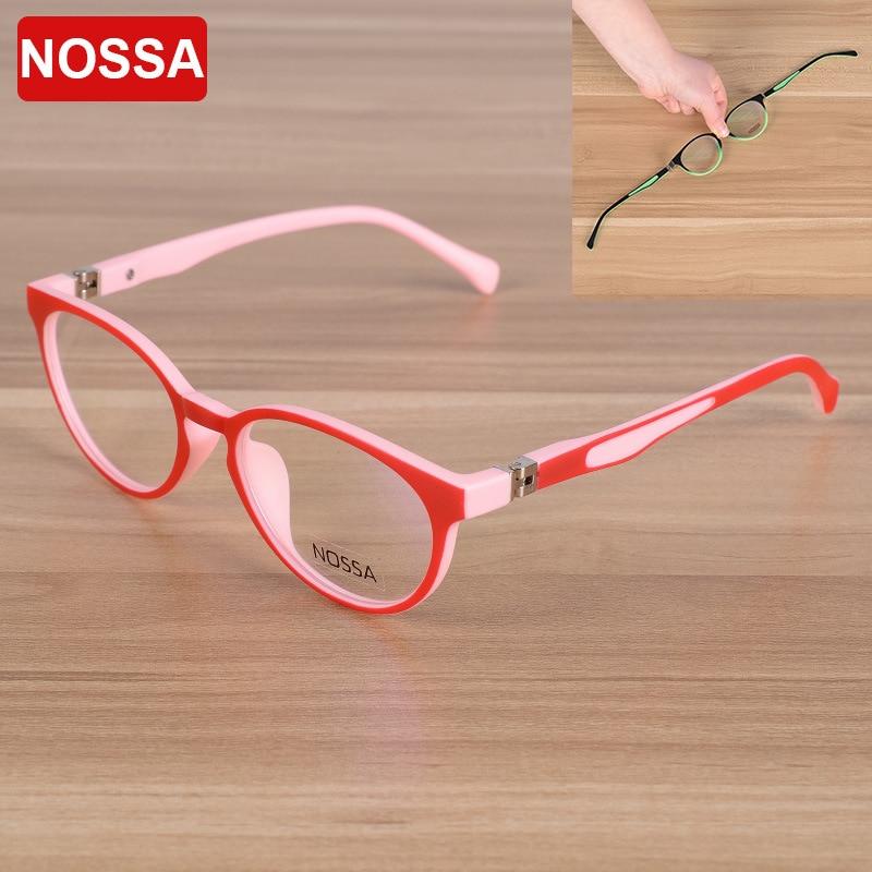 NOSSA zīmola kvalitātes TR90 bērnu optiskā rāmja brilles brilles meiteņu zēni bērni tuvredzības brilles rāmji bērniem brilles rāmji