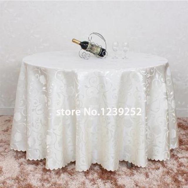 Nouveau diamètre 200 CM Table ronde Jacquard tissu Banquet Polyester ...