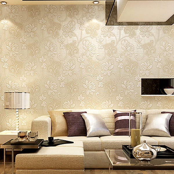Wallpaper for living room modern for Red wallpaper designs for living room