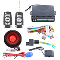 1 way car alarm kit 2 remote controls with customized flip key blade remote trunk release, door unlocked well warming