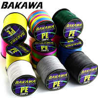 Ligne de pêche BAKAWA 8 brins PE tressé 500 300 mètres ligne de pêche Multifilament corde fil de pêche carpe 20 30 40 50 60 80 100lb