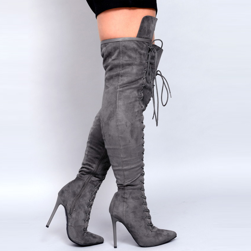 Fashion Ladies Over The Knee Boots For Womens Stilettos