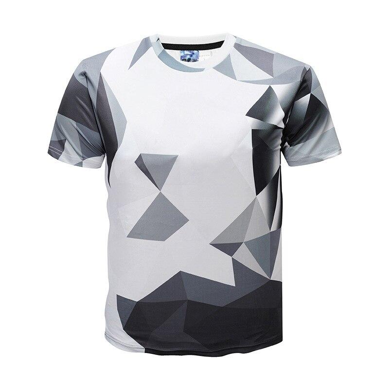 Summer New T shirt 3D man Gray Printed Men's Short Sleeve Men's Shirt fashion tshirts mens clothing
