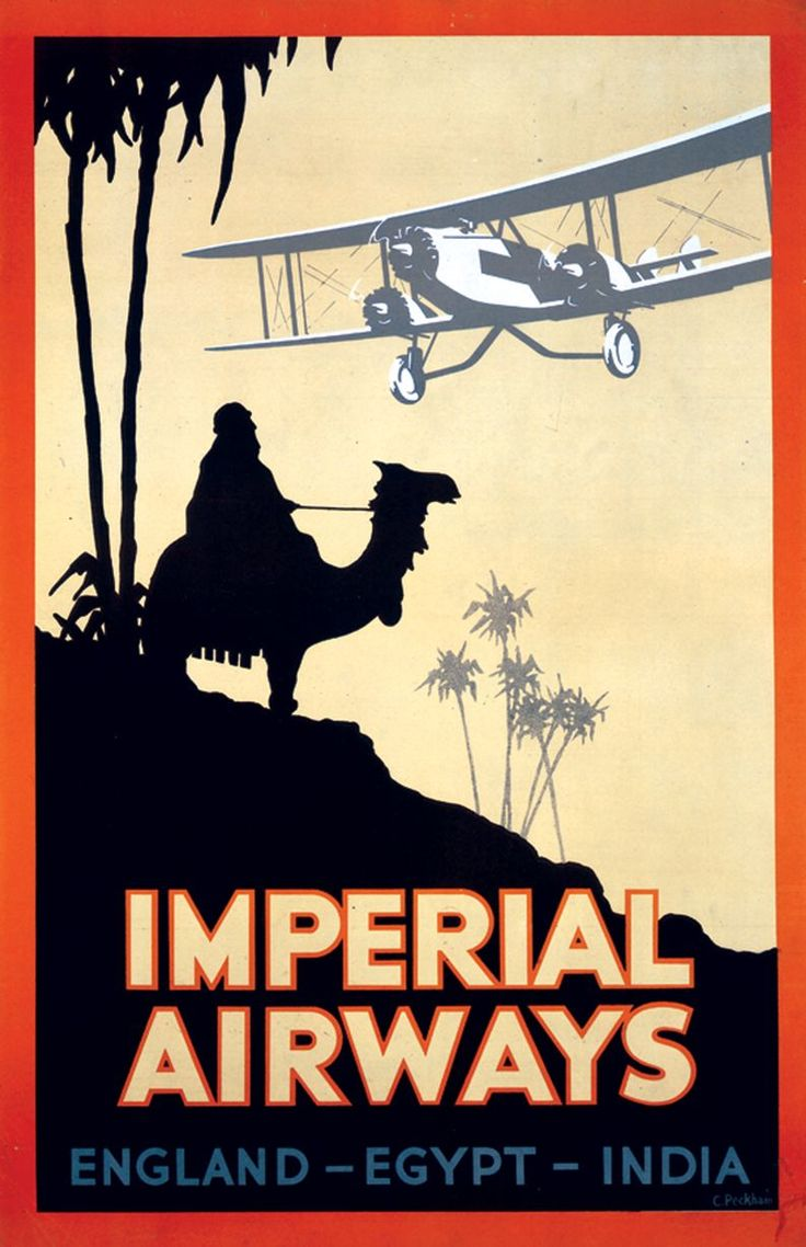 Vintage Imperial Airways Reliability Airline Poster Print A3//A4