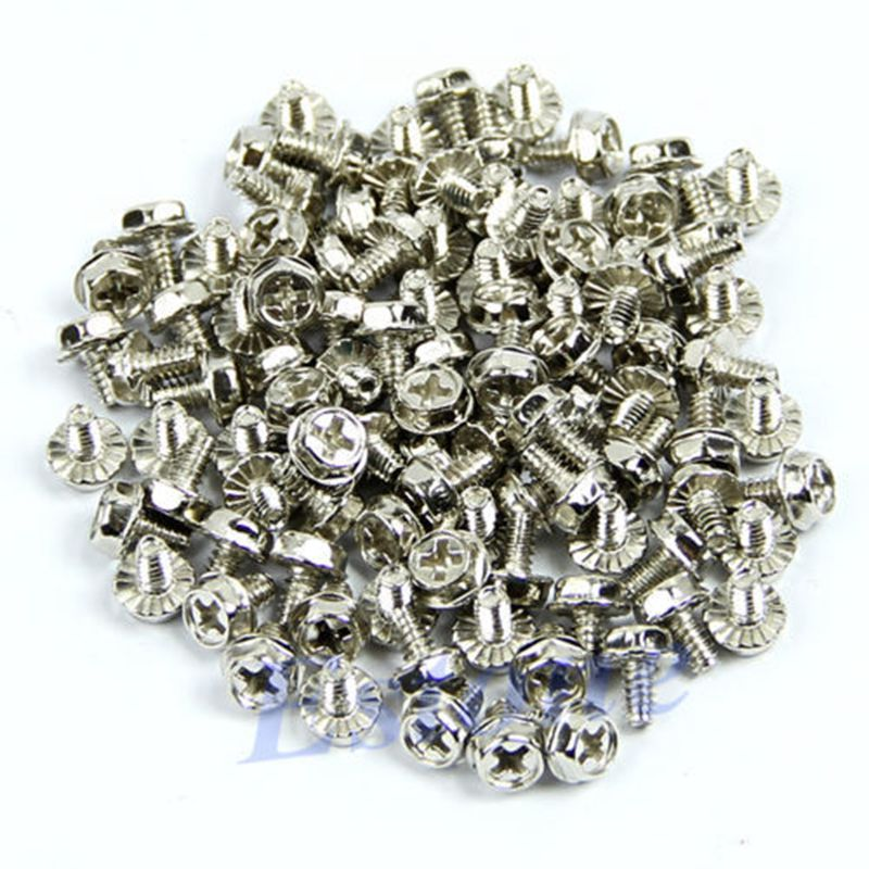 A31 500pcs Toothed Hex 6/32 Computer PC Case Hard Drive Motherboard Mounting Screws aiyima 535pcs 21kinds computer screws for motherboard pc case cd rom hard disk notebook screw