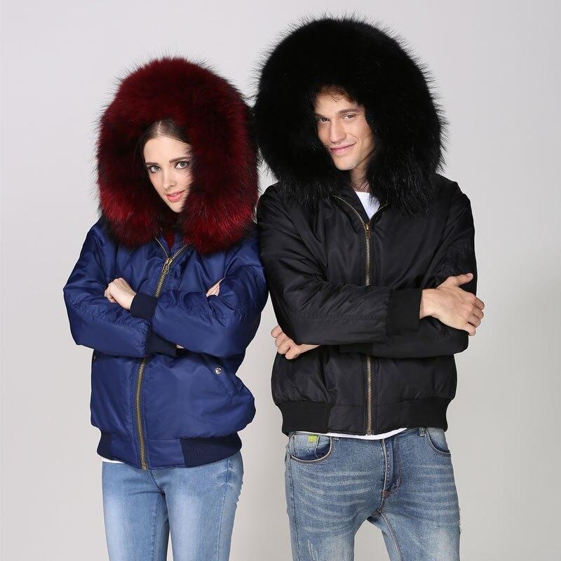 2018 черный бомбер модная куртка зимняя толстая подкладка из искусственного меха, темно синий Летающий бомбер меховая одежда