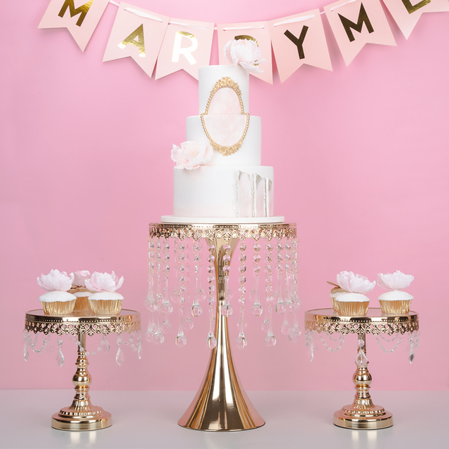 crystal gold \u0026 silver high cake stand sets cake tray wedding dessert table decoration cake table & crystal gold \u0026 silver high cake stand sets cake tray wedding dessert ...