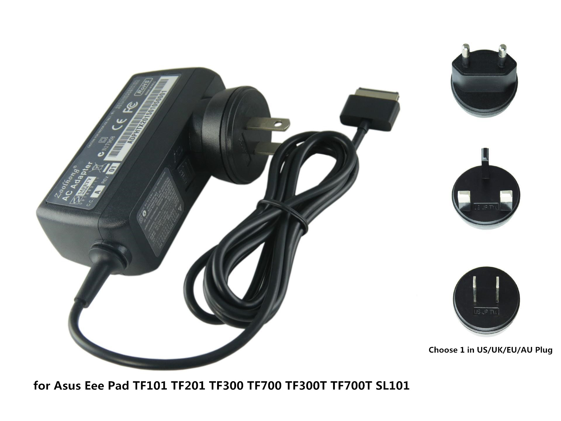 18 W Laptop AC Power Adapter Charger Untuk Asus Eee Pad TF101 TF201 TF300 TF300T TF700 TF700T SL101 Tablet US EU UK Plug 15 V 1 2A