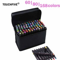 TouchFive Marker 60 80 168 Color Alcoholic Oily Based Ink Marker Set Best For Manga Stabilo