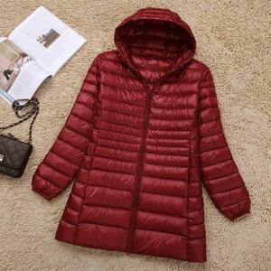 Image 3 - NewBang 브랜드 5XL 6XL 7XL 여성 다운 코트 여성 울트라 라이트 오리 롱 자켓 플러스 가을 겨울 파카 여성용 스포츠 용 재킷