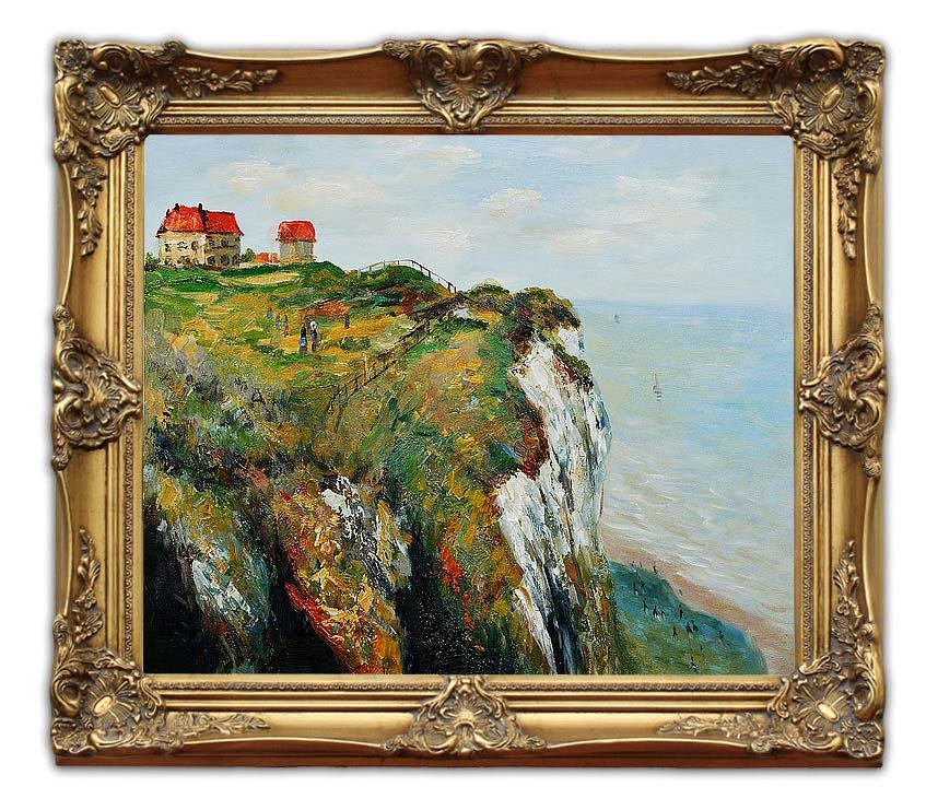 6418 Free Shipping Wooden Oil Painting Frames Cliff at Dieppe Monet ...