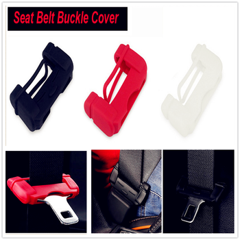 Car Safety Belt Buckle Covers Silicon Seat Accessories for BMW all series 1 2 3 4 5 6 7 X E F-series E46 E90 F09 image