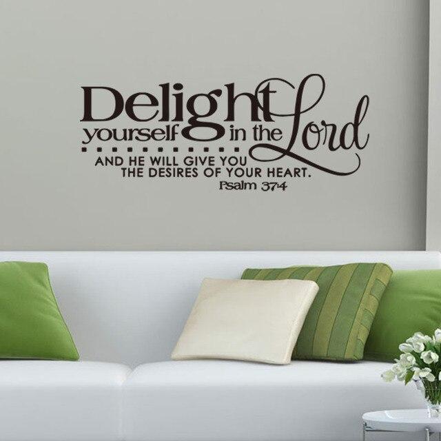 Kreative Bibel Sprüche Wandaufkleber Wohnzimmer Schlafzimmer Dekorative  Wandtattoo Aufkleber Lösbaren Tapeten Wohnkultur Liefert