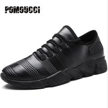 2017 New Stylish Black Running shoes for Men Sneakers lightweight Sports shoes Platform Boys Leather White Sport Running Shoes