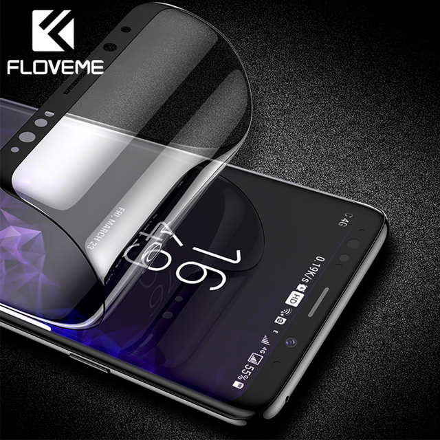 FLOVEME Защитная пленка для samsung Galaxy Note 9 8 3D изогнутая Ультрамягкая Защитная пленка для samsung S9 Plus не закаленное стекло