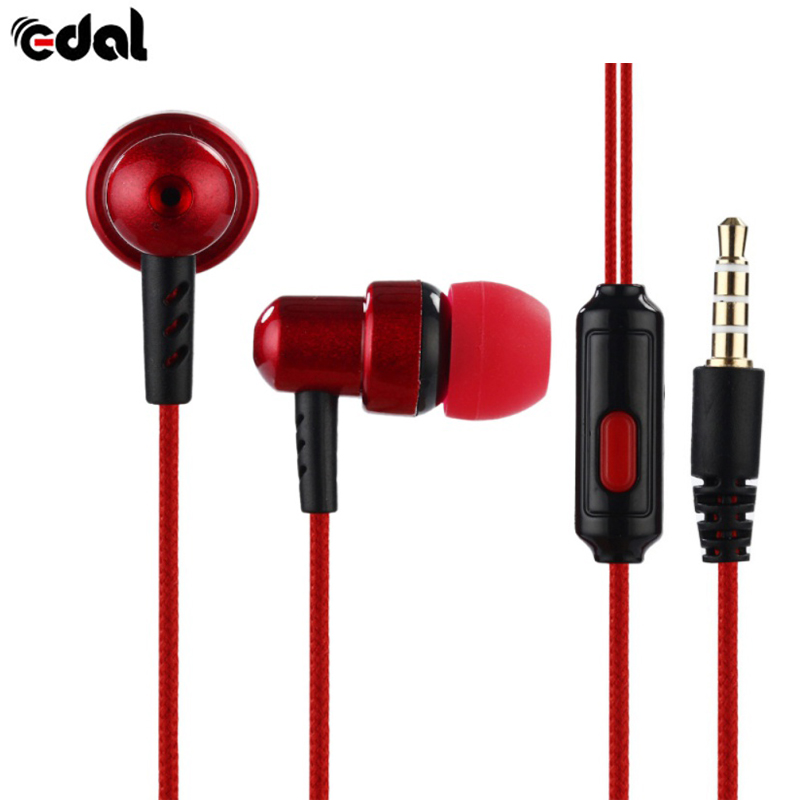 With Microphone Fashion 3.5mm for Universal Phones Stereo Earphone