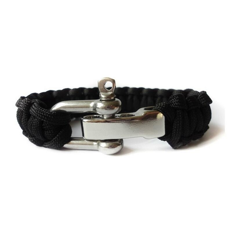Outdoor Umbrella rope bracelet for survival rope fishbone adjustable steel buckle bracelets rescue emergency tools
