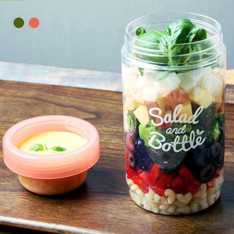 Fresh Salad Container Serving Cup Shaker with Dressing Container Food Storage Use This Bowl for Picnic