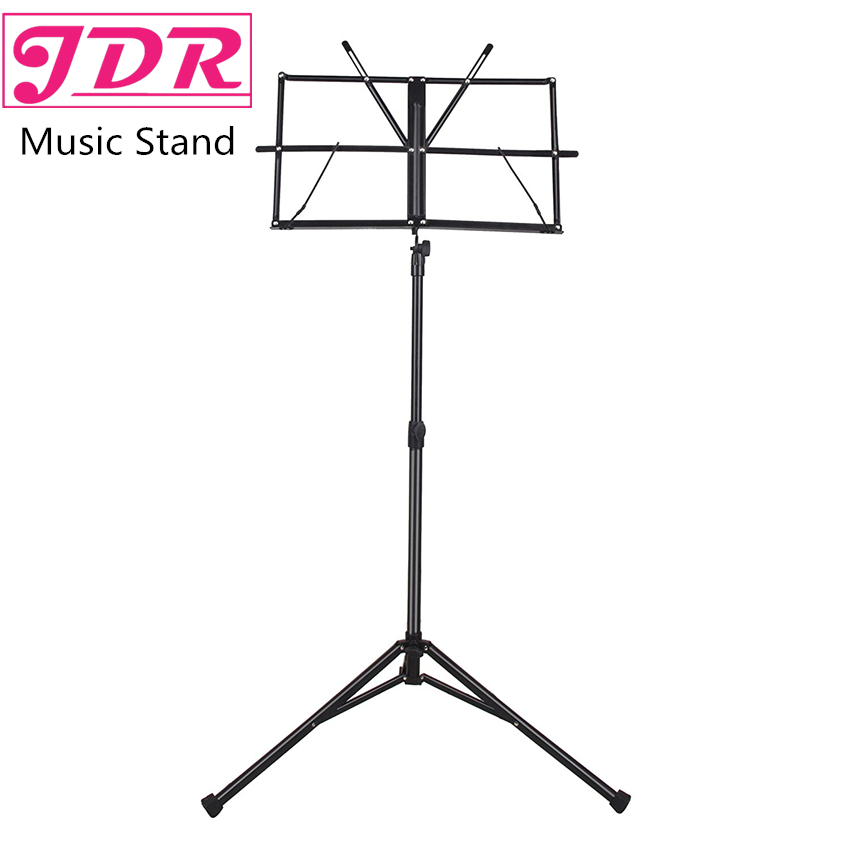 JDR Lightweight Metal Tripod Music Stand Sheet Folding Music Holder for Instrument Books with Waterproof Carry Bag Black colourful sheet folding music stand metal tripod stand holder with soft case with carrying bag free shipping wholesales