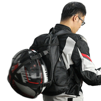 Black Motorcycle Tail Seat Back Bags Storage Bag Motorcycle Backpack Shoulder Bag Helmet Pack Outdoor Travel Oxford Cloth
