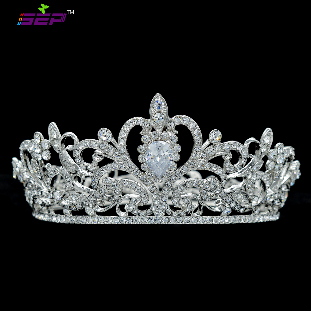 Excellent Round Flower Pageant Little Girl Tiara Crown For Wedding Bridal Hair Accessories with Real Austrian Crystals JHA7762A заколки hello little girl hair accessories