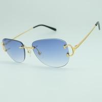 Fashion Popular Oval Sunglasses Men Rimless Luxury Carter Sun Glasses Women Trendy Sunglass Outdoor Designer Brand Sunglass