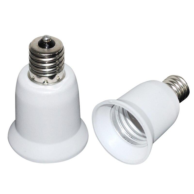 2019 Fireproof Plastic E17 To E27 Socket Adapter Converter Socket Bulb Adapter LED  Lamp Base