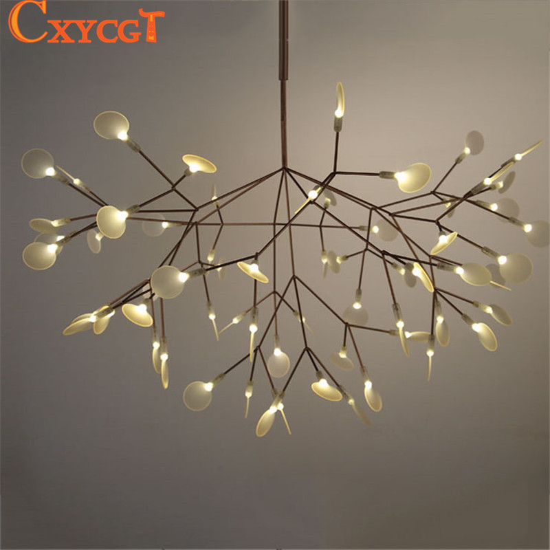Modern led large branch tree chandeliers lighting fixture for Luminaire double suspension