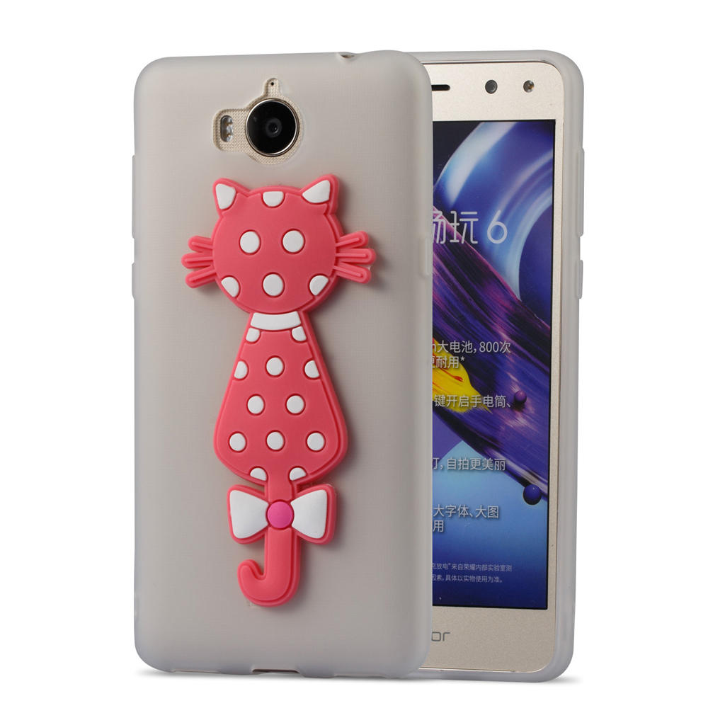 Cute Cat Phone Covers On For Huawei Y6 2017 Dual SIM 16GB 5.0 TPU Cases For HUAWEI Nova Young 2017 Cases Covers Full Housing