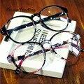 Marca de moda Retro Grande Moldura Redonda óculos de Armações de Óculos de Olho Para As Mulheres Elegante Óculos Óculos de Armação de Óculos Óculos De Sol Para Homens 2163