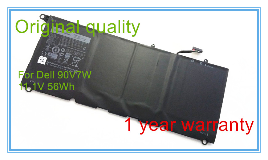 New 56Wh Original Battery 90V7W for XPS 13 Laptop 5K9CP DIN02 JD25G  7xinbox 6 cell 6710mah 7 6v 56wh laptop battery for dell xps 13 9343 9350 90v7w 090v7w jhxpy 5k9cp jd25g