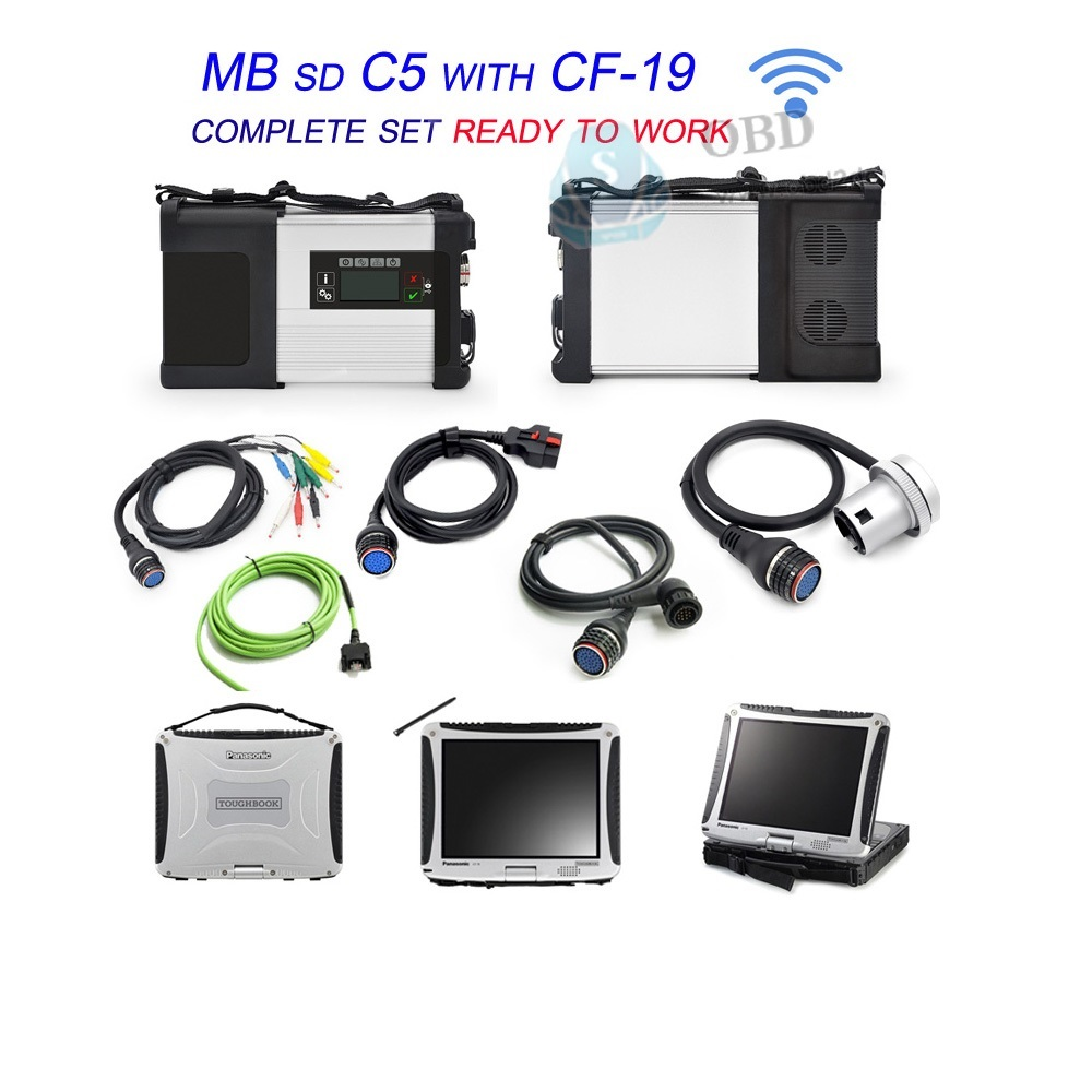 Best Quality MB Star C5 SD Conenct 5 with Laptop CF19 Auto Diagnostic PC CF 19 with 2017.05V Software for MB STAR SD C5 Scanner mccaffrey todd dragonheart