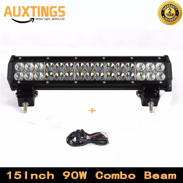 Aliexpress Com Buy Free Shipping 4x4 90w Led Light Bar 4x4 15 Inch 90w Combo Beam Portable Led 12v Work Lights High Power Led Driving Lights From