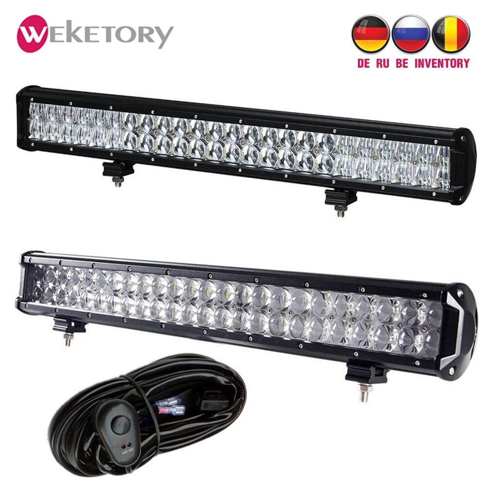 Weketory 4D 5D 22 pouces 240 W LED Travail Light Bar pour Tracteur Bateau OffRoad 4WD 4x4 Camion SUV ATV Spot Flood Combo Faisceau 12 V 24 v