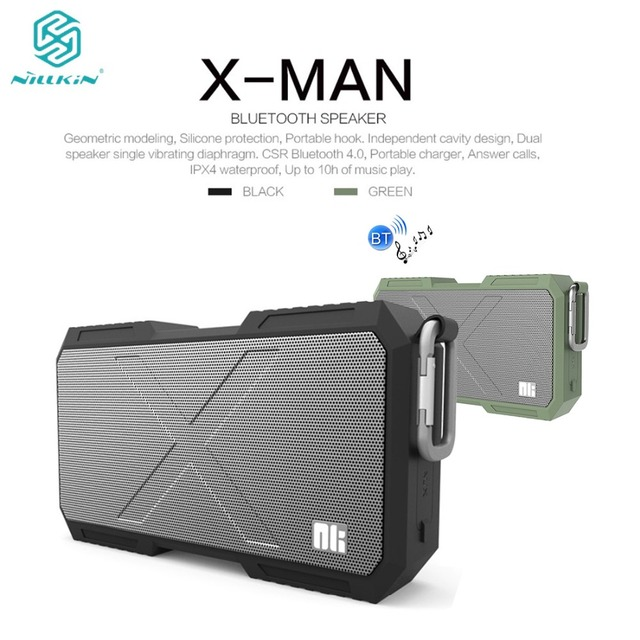 NILLKIN X-Man Bluetooth Speaker Stereo Mobile Phone Charger Portable Outdoor Sports Waterproof Wireless Music Sound for iPhone