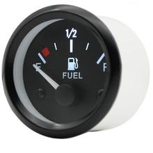 Fuel Gauges 2'' 52mm 12V DC Mechanical Car Fuel Level Gauge Black Oil FG /Car Meter White LED Light Black Rim Automotive Gauges цена и фото