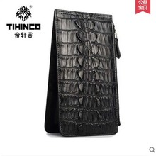 tihinco real Crocodile ultra-thin men clutches more  screens than men high-grade  leather business men bag