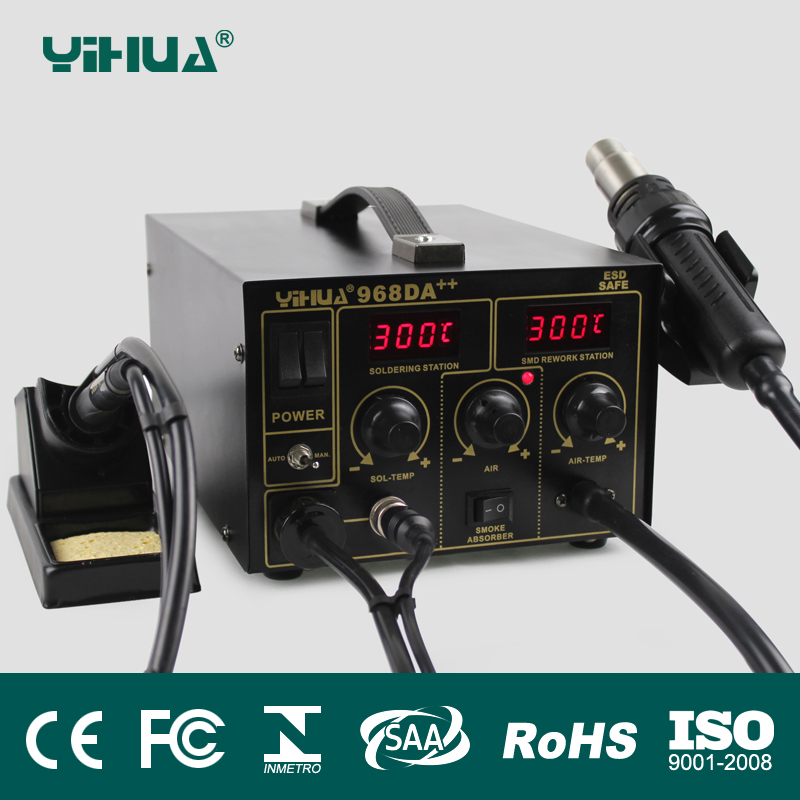 YIHUA 968DA ++ elektrooniline mobiiltelefon 3 IN1 jootmise kuuma õhu - Keevitusseadmed - Foto 2