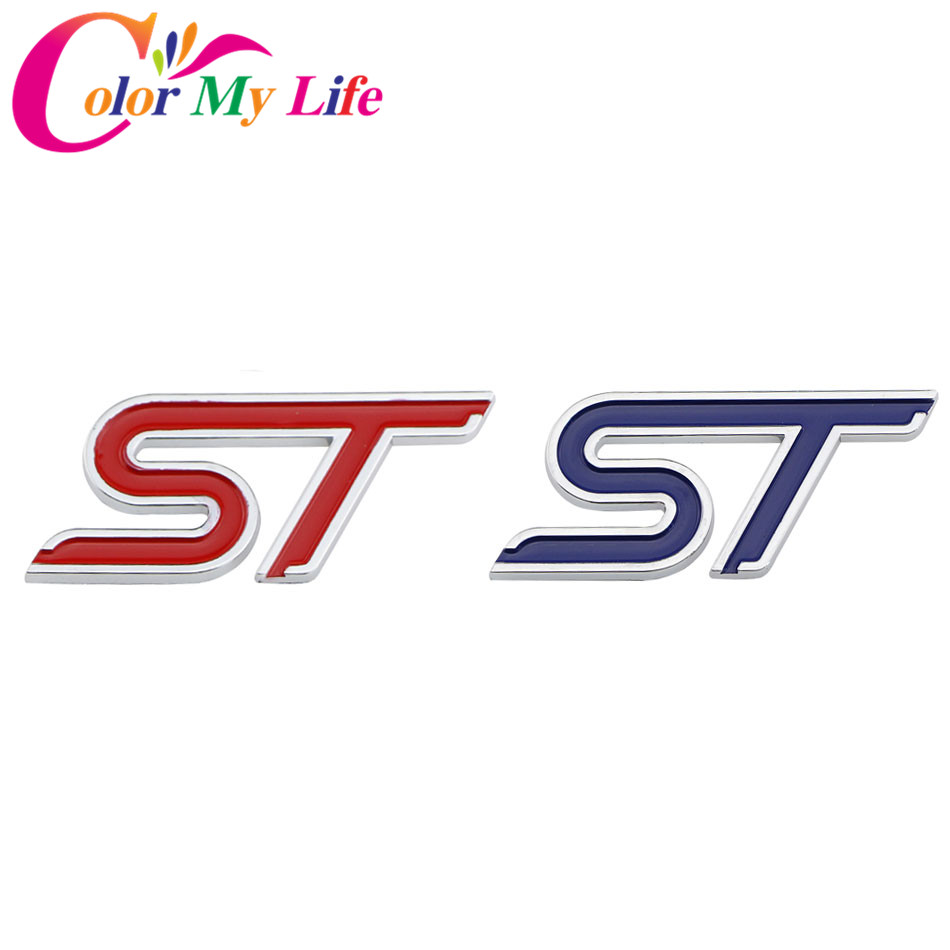 Color my life s st rs t logo sport trailer car stickers 3d car sticker decoration stickers auto accessories