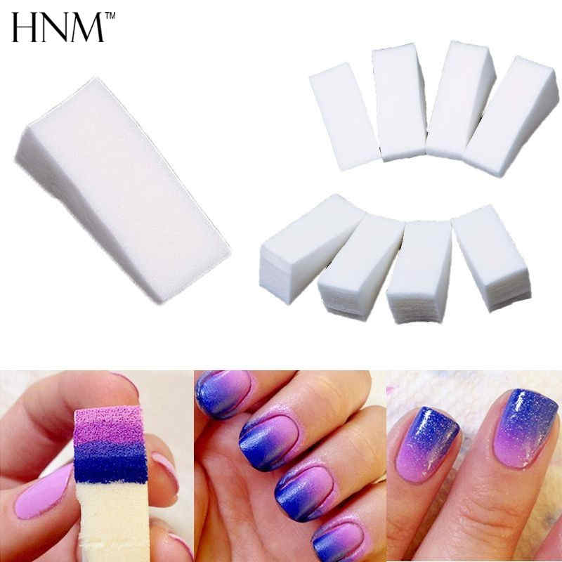HNM 12pcs DIY Gradient Nail Sponges Nail Buffer Files Color Change Gel Nail Polish Equipment Manicure Nail Art Tool цена 2017