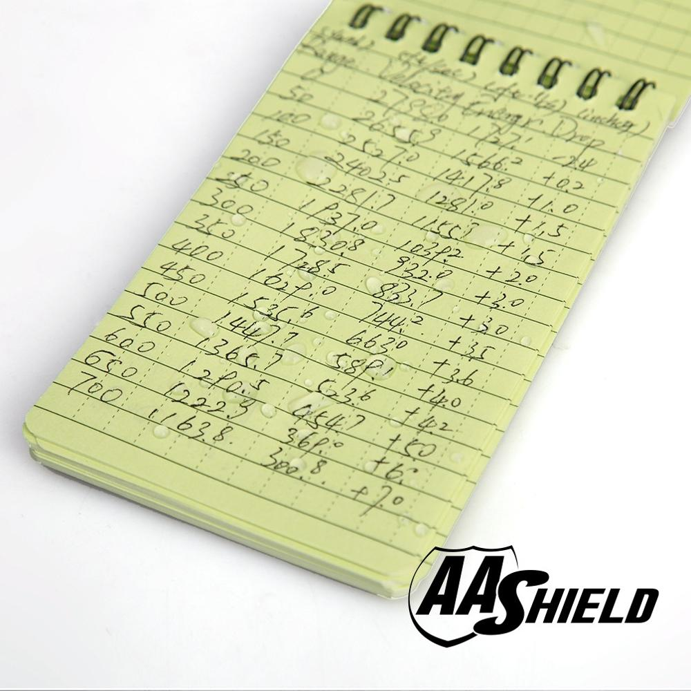 AA Shield All Weather 3X5 Waterproof Note Camo Outdoor Map Notebook